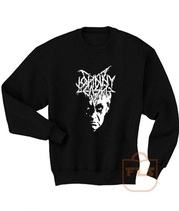 Johnny Cash Black Metal Sweatshirts