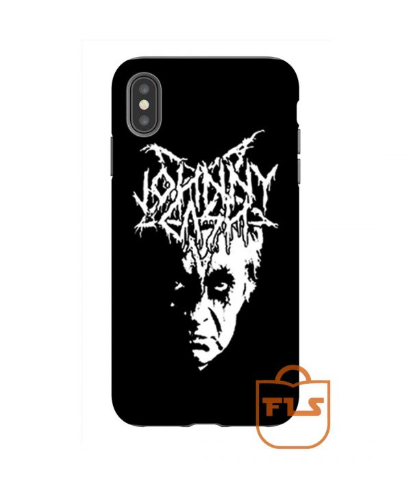 Johnny Cash Black Metal iPhone Case