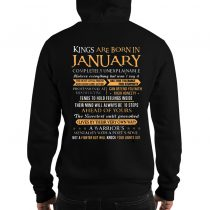 Kings Are Born In January Pulllover Hoodie