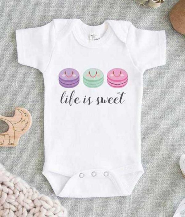 Life is Sweet Macaroon Baby Onesie