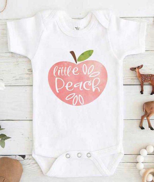 Little Peach Baby Onesie