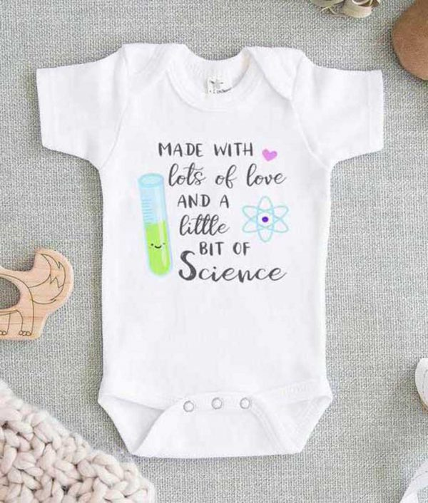 Made with Love and Science Baby Onesie