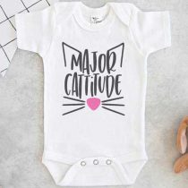 Major Cattitude Baby Onesie
