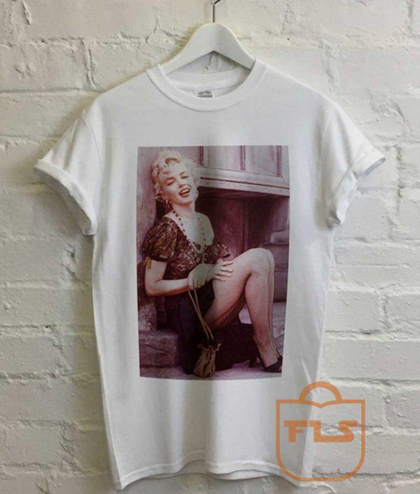 Marilyn Monroe Fishnet Stocking Vintage T Shirt