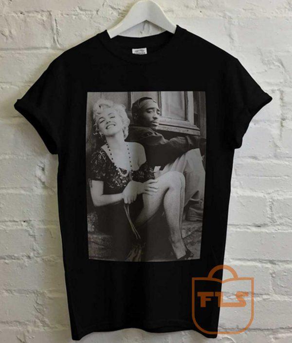 Marilyn Monroe Tupac Retro T Shirt