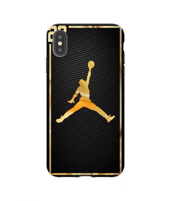 Michael Jordan 23 Gold iPhone Case