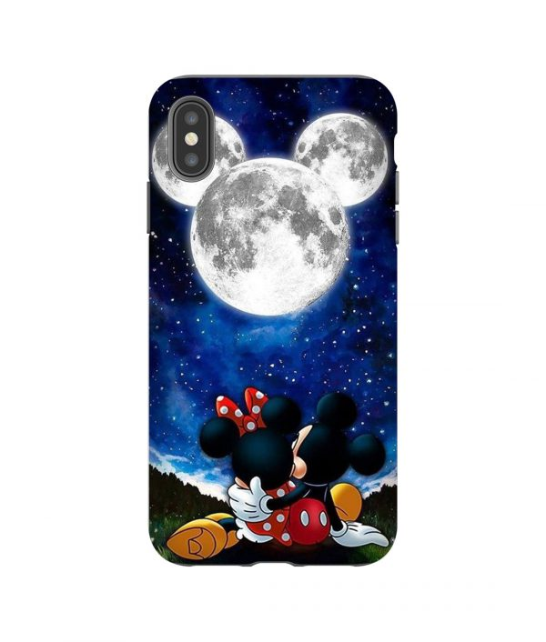 Mickey Minnie and Moon iPhone Case