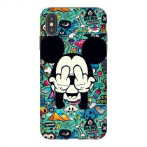 Micky Mouse Fuck You iPhone Case
