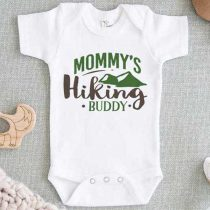 Mommys Hiking Buddy Baby Onesie