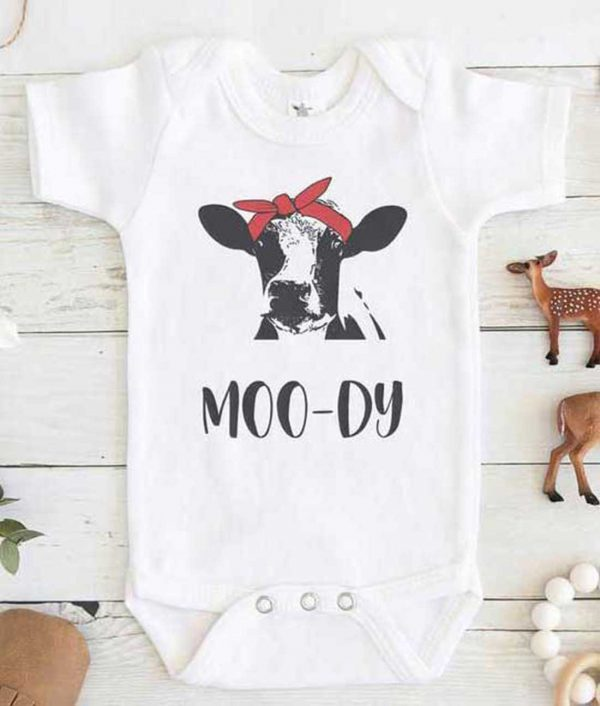 Mood Dy Cow Baby Onesie