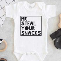 Mr Steal Your Snacks Baby Onesie
