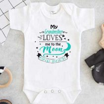 My Grandmother Loves Me To The Moon And Back Baby Onesie