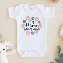 My Mimi loves me Baby Onesie