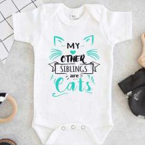 My Other Siblings Are Cats Baby Onesie