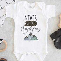 Never Stop Exploring Baby Onesie
