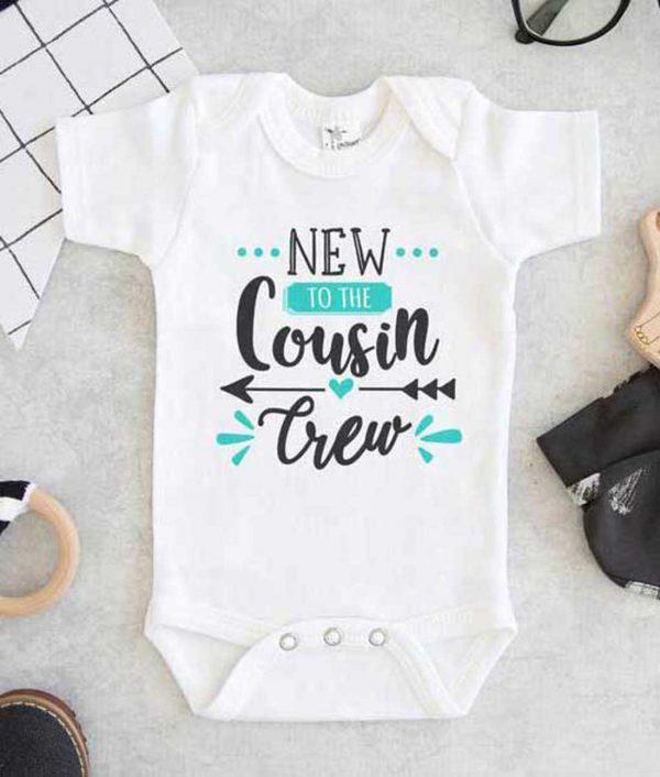 New To The Cousin Crew Baby Onesie