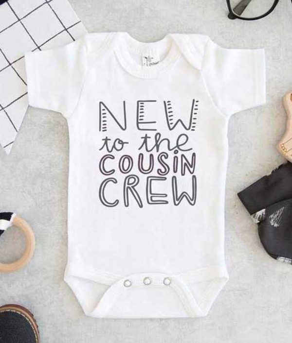 New To The Cousin Crew Cute Baby Onesie