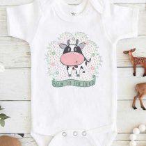 New to the Herd Cow Baby Onesie