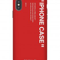 Off White Red Background iPhone Case