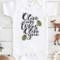 Olive Me Love Olive You Baby Onesie