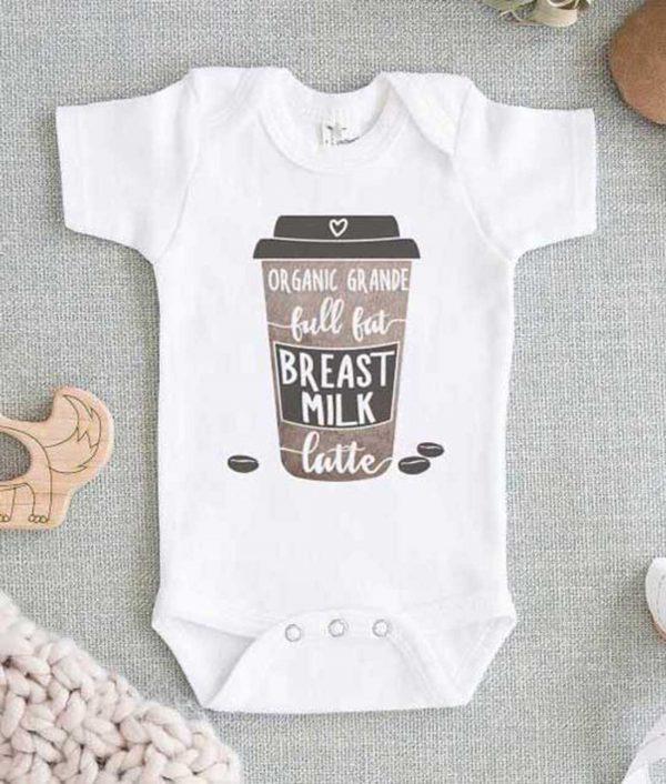 Organic Grande Full Fat Breast Milk Latte Baby Onesie