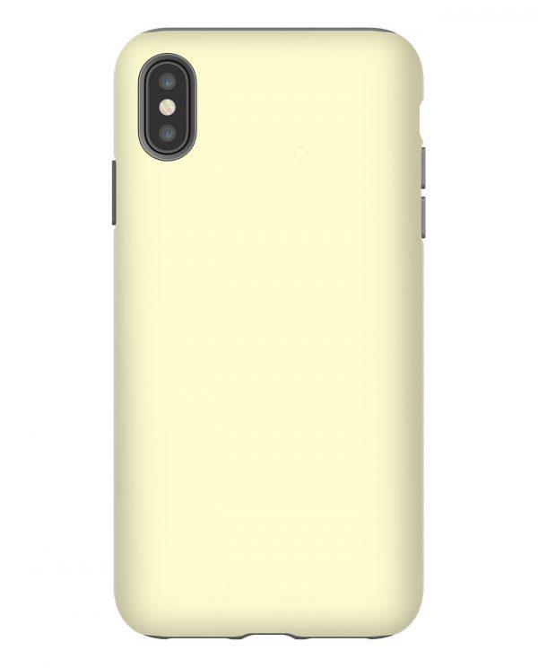Pastel Lemon Yellow Solid iPhone Case