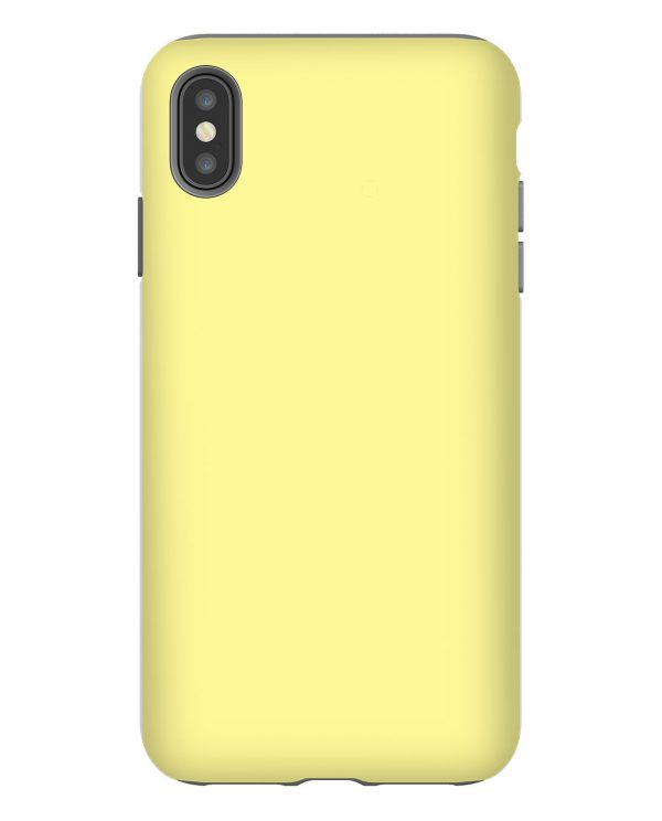 Pastel Yellow Solid iPhone Case