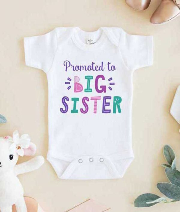 Promoted to Big Sister Baby Onesie