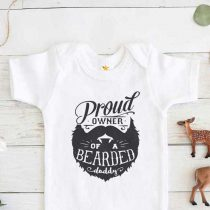 Proud Owner of a Bearded Daddy Baby Onesie