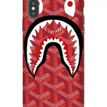 Red Bape Goyard iPhone Case