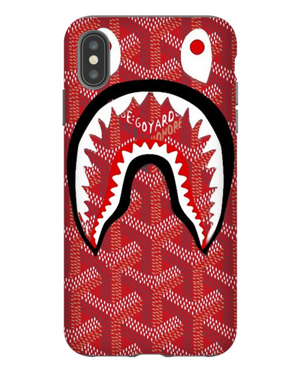 Red Bape Goyard iPhone Case