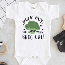 Rock Out With Your Broc Out Baby Onesie