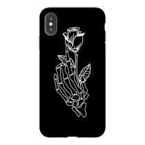 Rose on Skeleton Hand iPhone Case