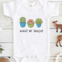 SUCCULENT What up Succa Baby Onesie