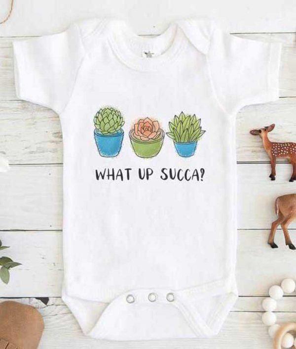 SUCCULENT What up Succa Baby Onesie