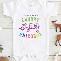 Save the Chubby Unicorn Baby Onesie