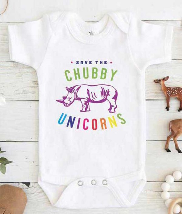 Save the Chubby Unicorn Baby Onesie