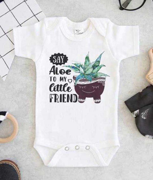 Say Aloe To My Little Friend Baby Onesie