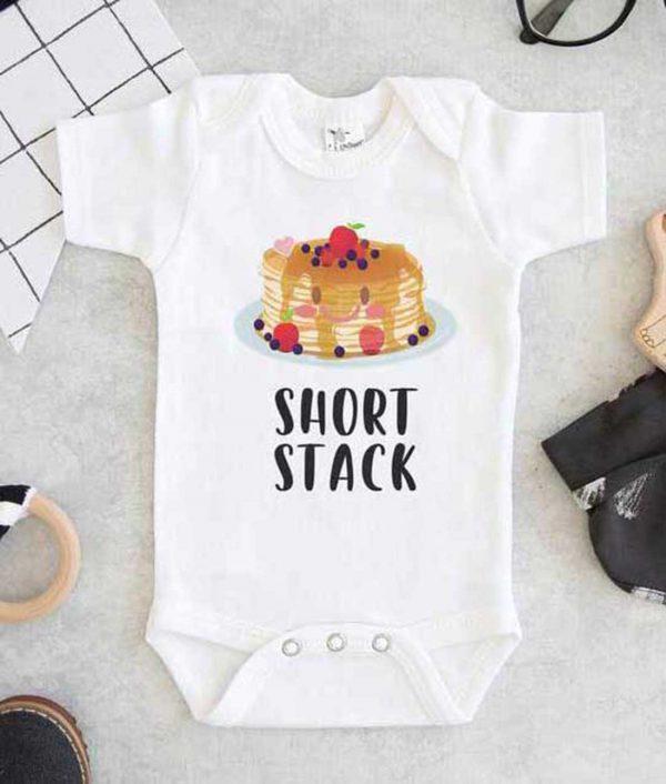 Short Stack Pancake Baby Onesie