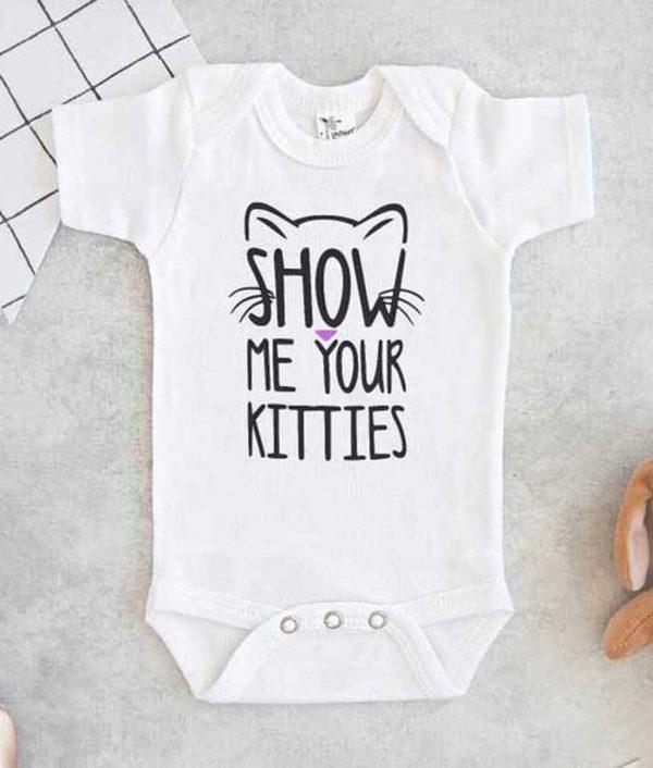 Show me your Kitties Baby Onesie