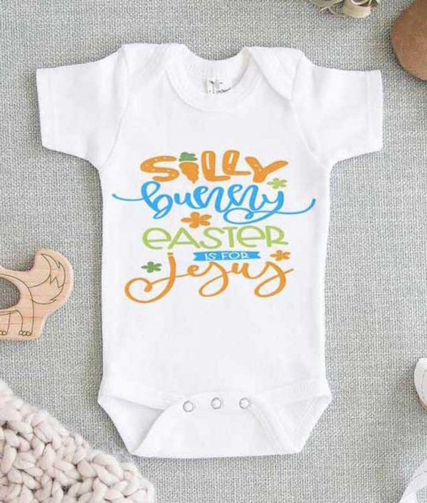 Silly Bunny Easter if For Jesus Baby Onesie