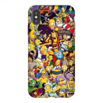 Simpsons Collage iPhone Case