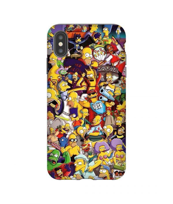 Simpsons Collage iPhone Case