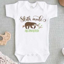 Sloth Mode Activated Baby Onesie