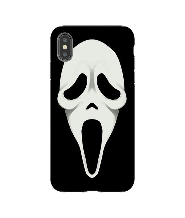 Spooky Horror Face iPhone Case