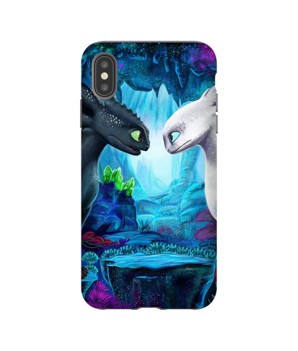 Toothless and Light Fury iPhone Case