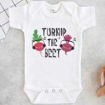 Turnip The Beet Baby Onesie