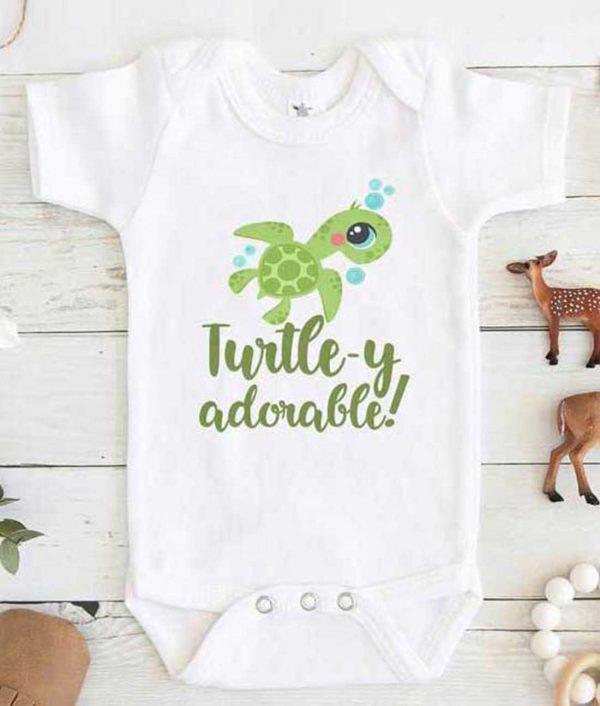 Turtley Adorable Baby Onesie