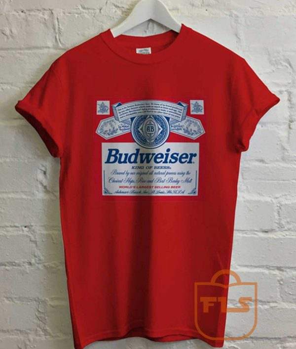 Vintage Budweiser Red T Shirt