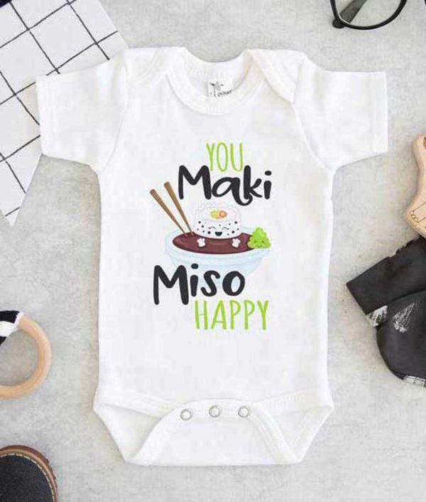 You maki miso happy Baby Onesie